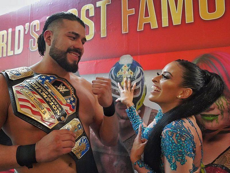 Andrade and Zelina Vega in WWE
