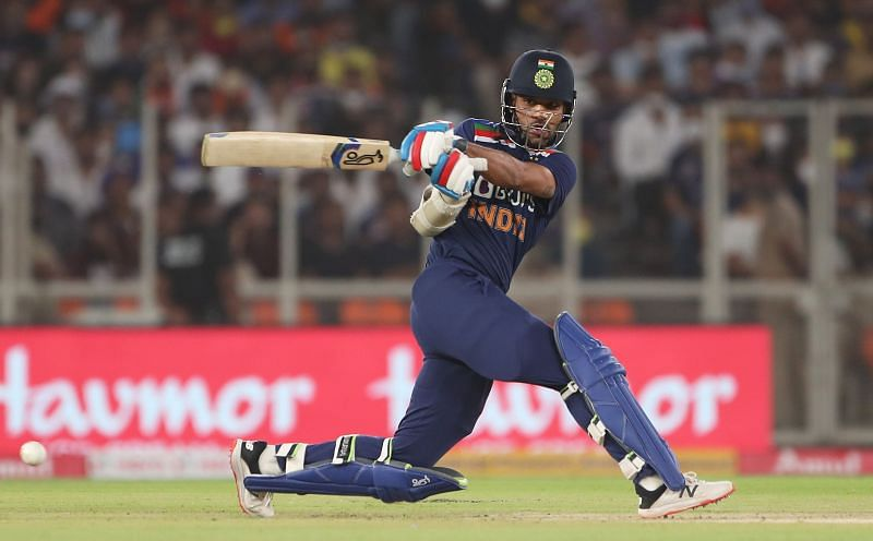 Shikhar Dhawan was sidelined after the first T20I against England