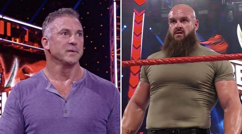 Shane McMahon and Braun Strowman tonight on WWE RAW