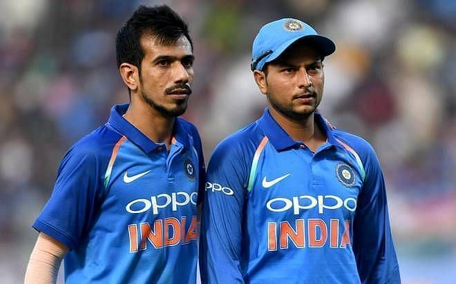 Yuzvendra Chahal(L) and Kuldeep Yadav