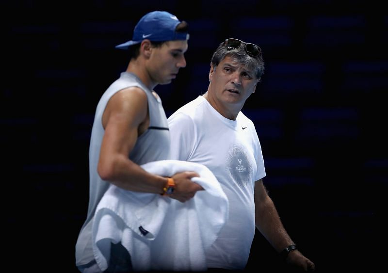 Rafael Nadal and uncle Toni