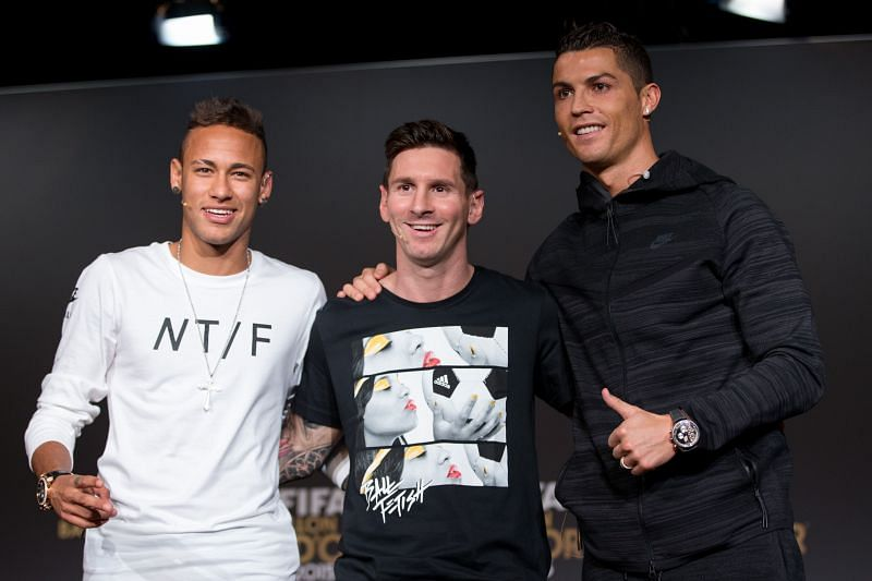 PSG star Neymar made an interesting claim about Lionel Messi and Cristiano Ronaldo