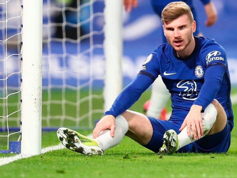 Timo Werner was unlucky not to have scored for Chelsea against Liverpool.