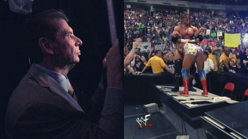 Vince McMahon, Triple H, and Kurt Angle.