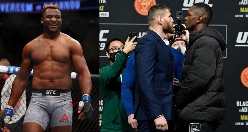 Francis NGannou predicts a third-round TKO win for Israel Adesanya at UFC 259