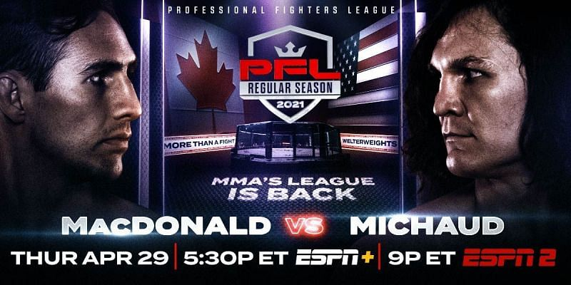 PFL 2: Rory MacDonald set to debut against David Michaud in headline bout on April 29