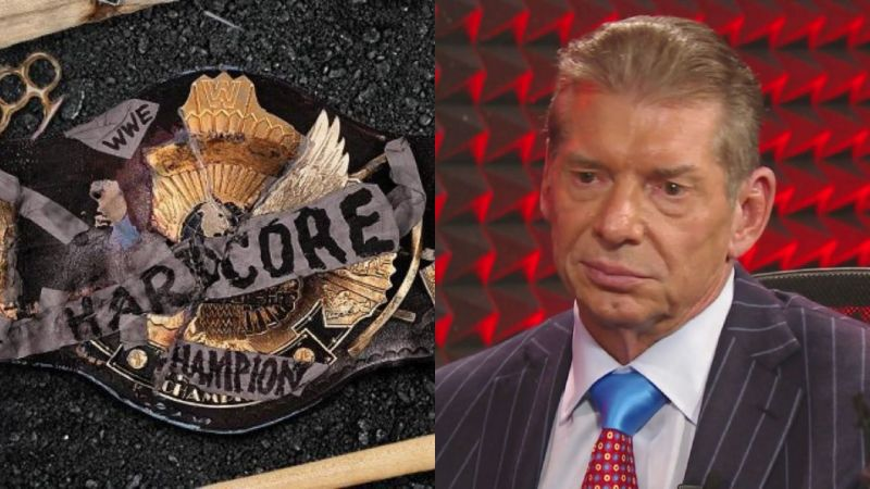 Hardcore title and Vince McMahon.