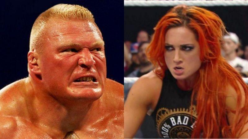ब्रॉक लैसनर और बैकी लिंच WWE को फेक कहे जाने के बाद काफी गुस्सा हो गए थे