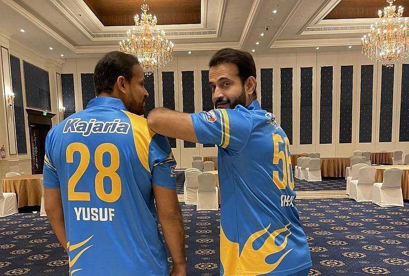 Yusuf Pathan and Irfan Pathan. (Pic: Irfan Pathan/ Twitter)