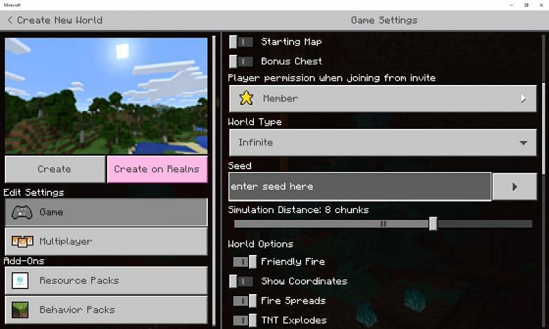 A Minecraft seed is a combination of letters, numbers, and words (Image via Mojang)