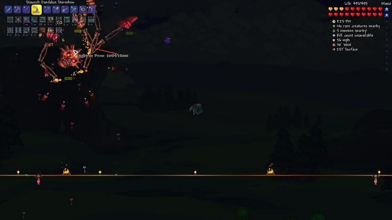 Just like the regular Skeletron fight, you only have to destroy the head to defeat this boss.