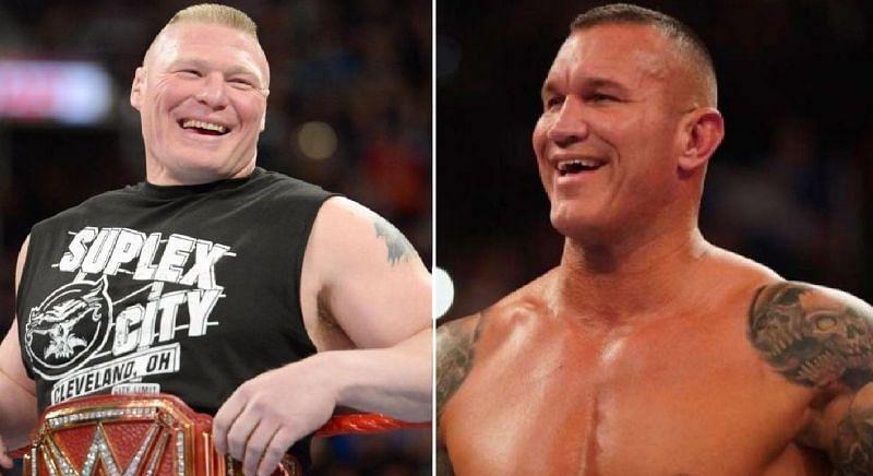 Brock Lesnar and Randy Orton