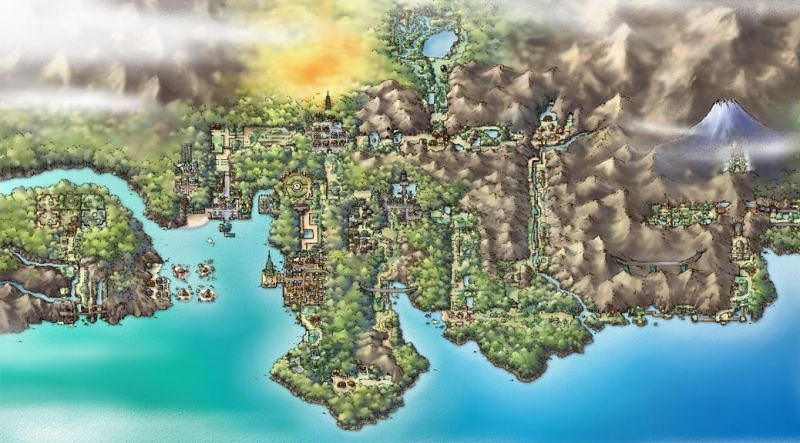 The Johto Region (Image via Game Freak)