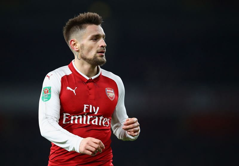 Mathieu Debuchy failed to make a mark at Arsenal.