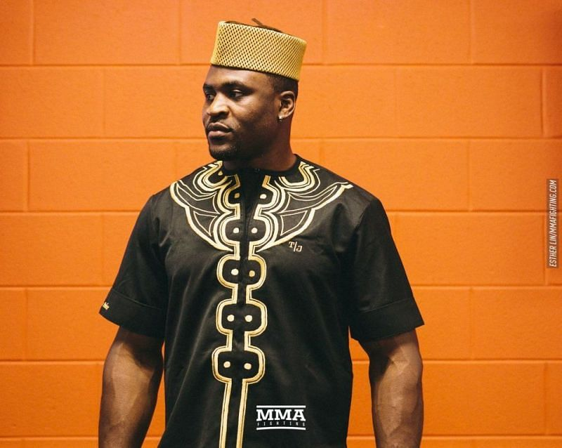 Francis Ngannou in his cultural attire