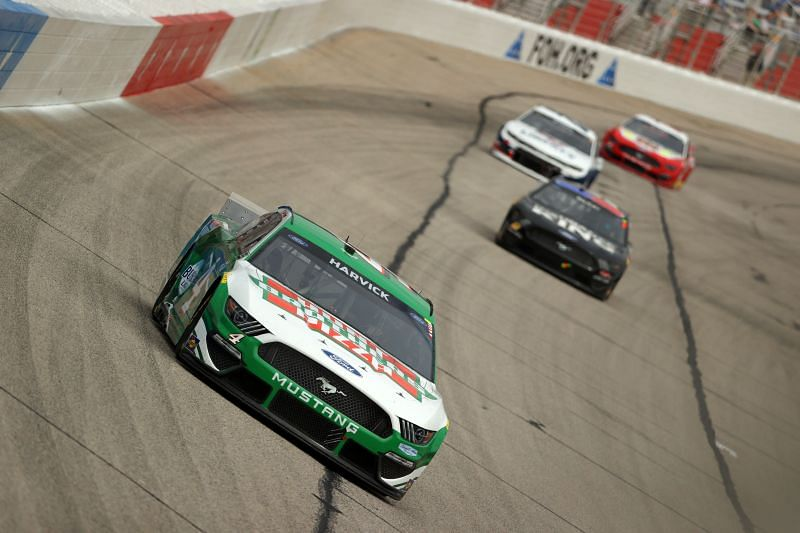 Kevin Harvick is having a tough day in Atlanta. Kevin Cox. Getty Images.