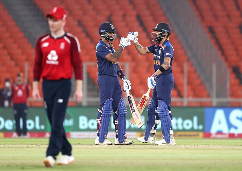 Suryakumar Yadav and Virat Kohli added a quickfire 49 runs for the second wicket