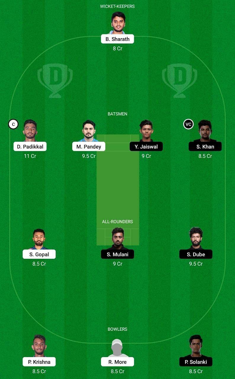 KAR vs MUM Dream11 Tips - Vijay Hazare Trophy