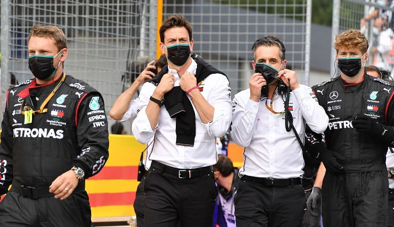 Mercedes might have won but they are wary of the threat from Mercedes. Photo: Clive Mason/Getty Images