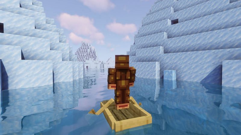 Shown: A Monke not in his natural habitat. Or is it a Sea Monke? (Image via Minecraft)