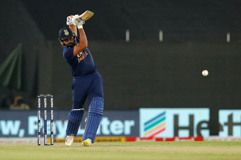 Rohit Sharma recorded his 22nd T20I fifty in the fifth game. (PC: BCCI/Twitter)