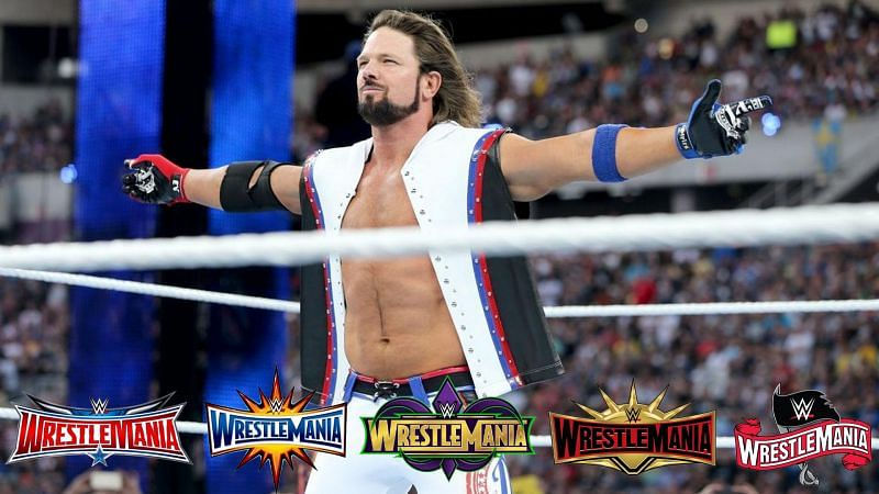 AJ Styles has competed at 5 WrestleMania pay-per-views during his WWE career