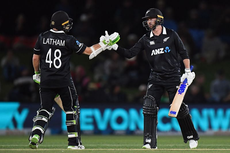 Tom Latham and Devon Conway had a 113-run partnership for the fourth wicket in Christchurch