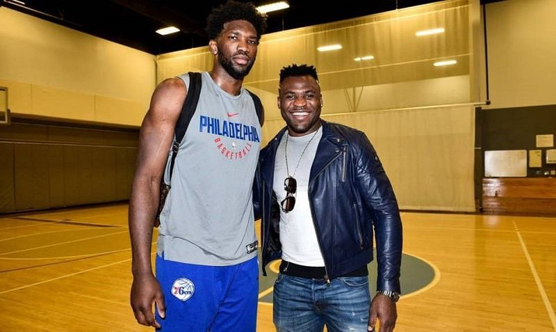 Joel Embiid (left); Francis Ngannou (right)