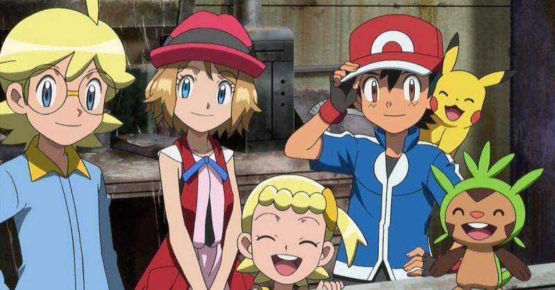 Ash and friends in Kalos (Image via the Pokemon Company)