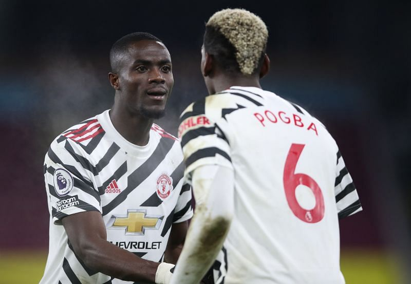 Eric Bailly and Paul Pogba of Manchester United celebrate