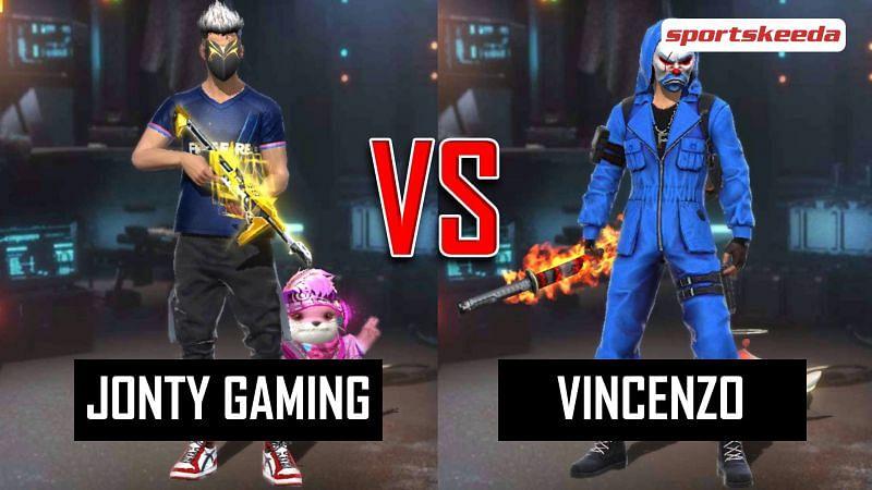 Garena Free Fire: Jonty Gaming vs Vincenzo