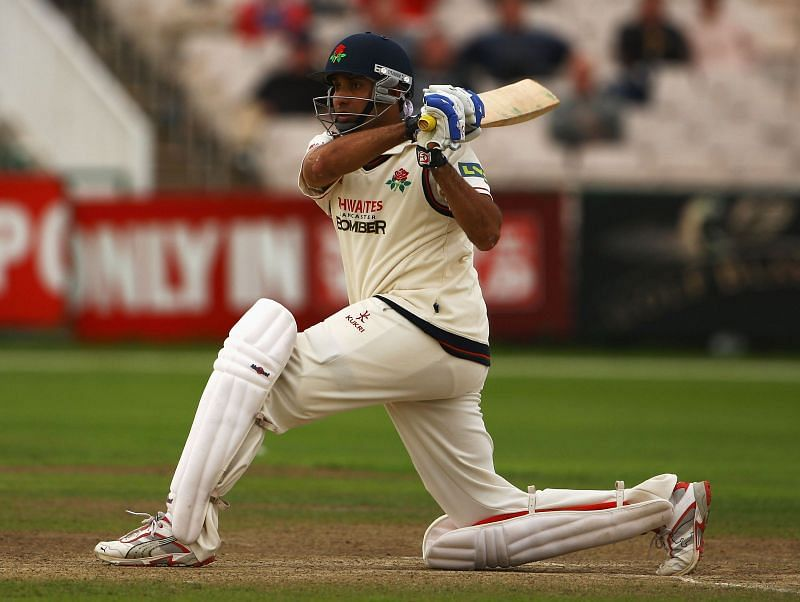 VVS Laxman batting for Lancashire