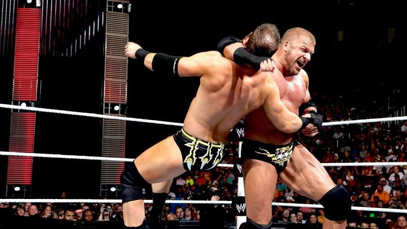 Curtis Axel defeated Triple H on several occasions on Monday Night RAW in 2013
