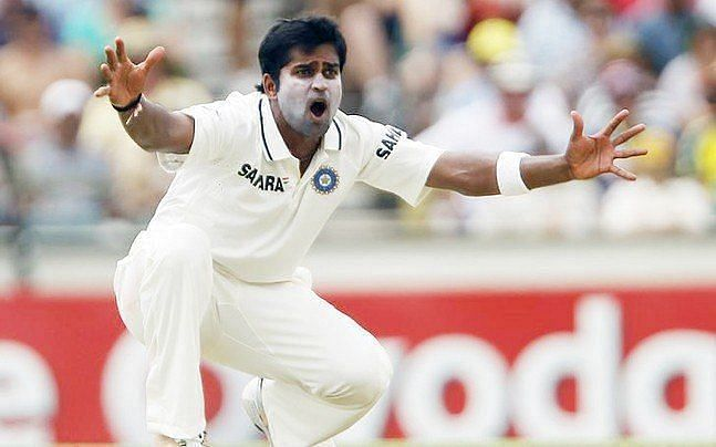 Vinay Kumar in his only Test match for India