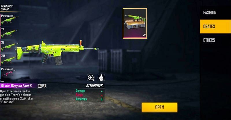 2x Futuristic Weapon Loot Crate.