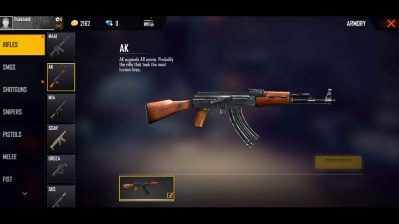 AK in Free Fire