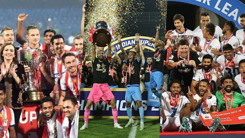 Clubs with the most number of ISL titles