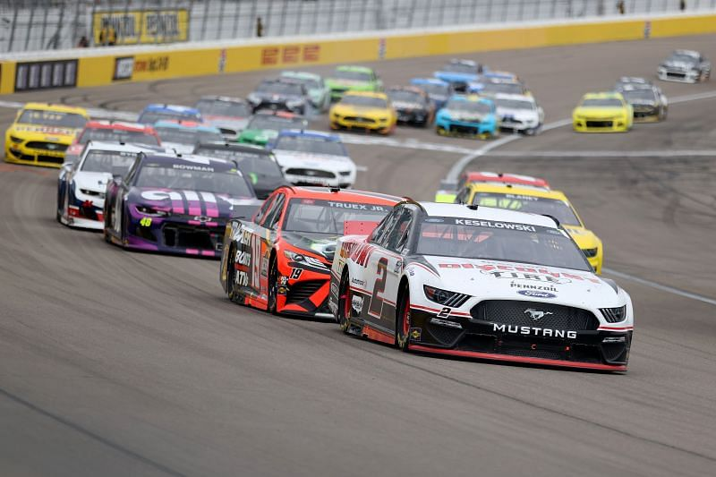 Brad Keselowski wins Stage 1 of NASCAR Cup Series Pennzoil 400 presented by Jiffy Lube. Photo by Abbie Parr/Getty Images