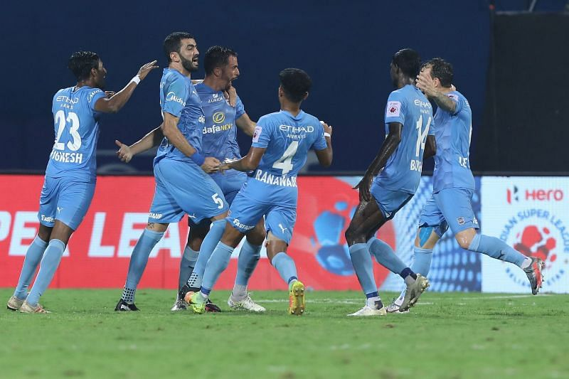 Mumbai City FC showed determination to come back twice in the match. Courtesy: ISL