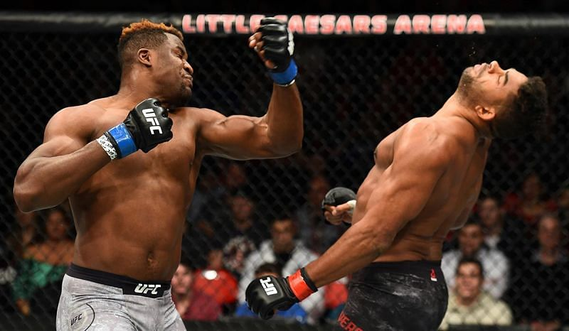 Francis Ngannou spectacularly knocked out Alistair Overeem..