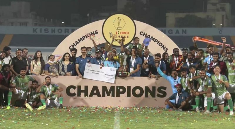 Gokulam Kerala FC are the I-League champions. (Image:1Sports Facebook Screenshot)