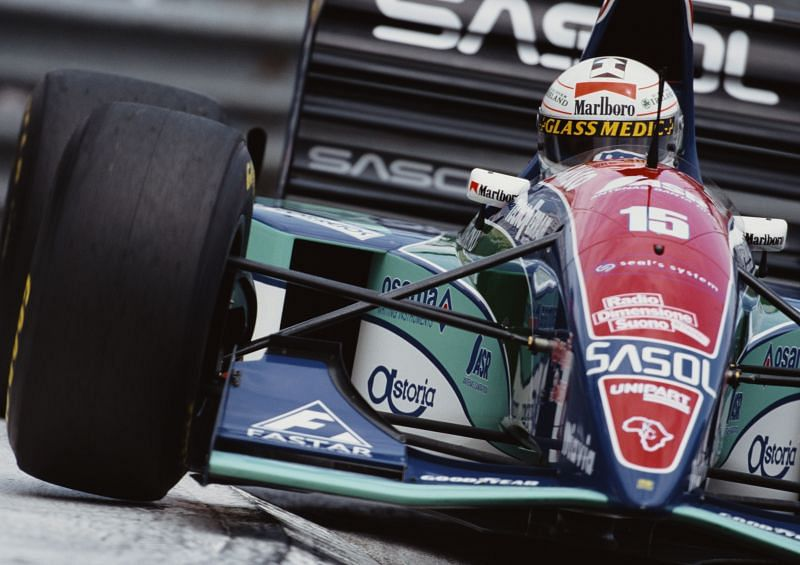 Andrea de Cesaris hold the most unenviable record of all time. Photo: Pascal Rondeau/Getty Images.