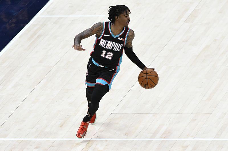 Memphis Grizzlies star Ja Morant in NBA action