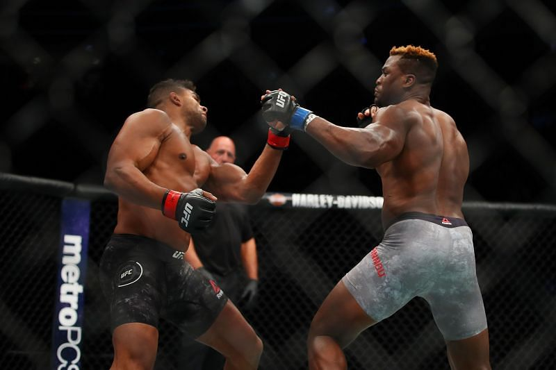 Francis Ngannou appeared to have taken Alistair Overeem