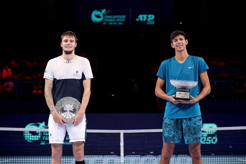 Alexander Bublik finished as the runner-up in Singapore a few weeks ago