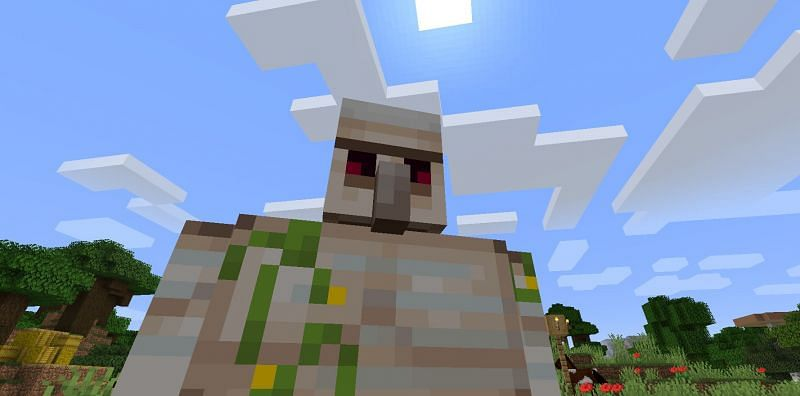 Shown: An Iron Golem making sure no mobs step out of line (Image via Minecraft)