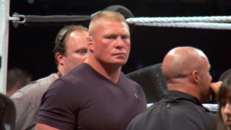 Brock Lesnar has not competed in a WWE match in almost a year