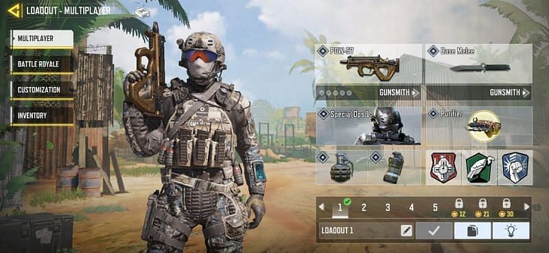 Loadout choices in COD Mobile