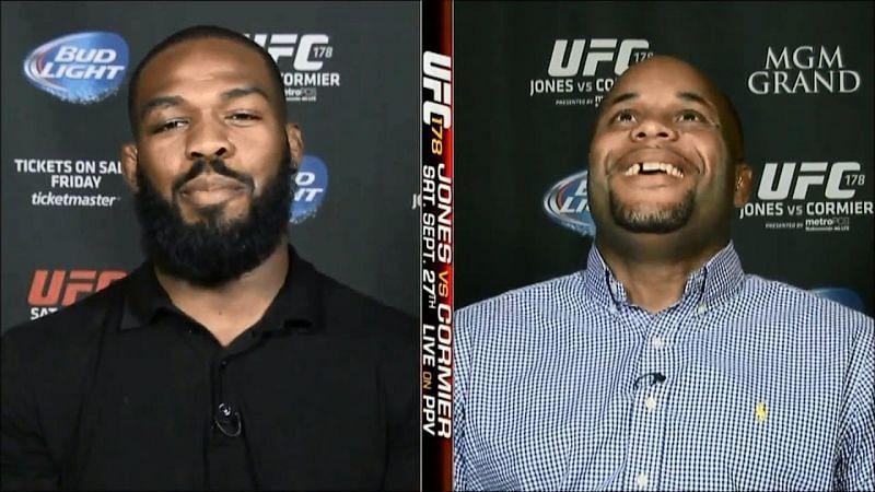 Jon Jones (left); Daniel Cormier (right)
