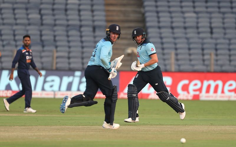Jason Roy and Jonny Bairstow added 135 off just 86 balls in the first ODI in India.